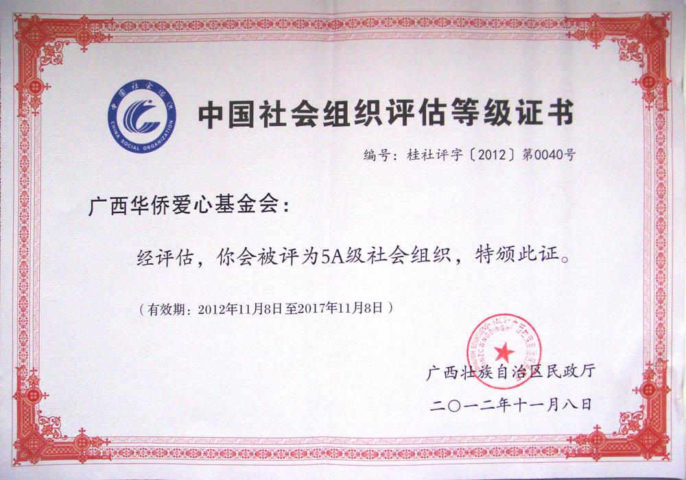 5A级社会组织